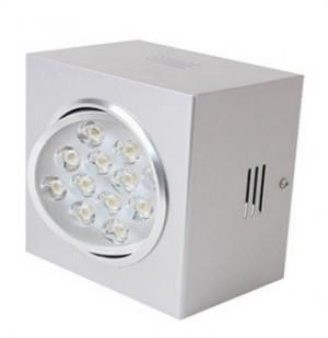 Z757WWW - LAMPA NATYNKOWA RUCHOMA WHITE SQUARE HIGH POWER LED 12W (12x1W) 1200LM=100W 230V biała ciepła 3000K 120 stopni 150x150xH100mm