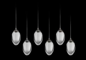 Lampa wisząca DROPLA 25W 1900LM 230V SMD 2835 mrożony akryl BIAŁY CIEPŁY 3000K