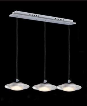 Z752U3L - Lampa wisząca UFO 15W 1100LM 230V SMD 2835 mrożony akryl BIAŁY CIEPŁY 3000K rozmiar: L470xW90*H1000mm