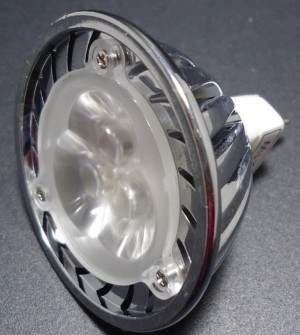 Z124 - MR16 HIGH POWER LED 3W (3x1W) 300LM=30W 12V 2850-3050K 60st.