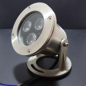 Z174 - Lampa LED zewnętrzna podwodna IP68 3x1W AC12V 300LM 60st. B.NATURALNA 4500K