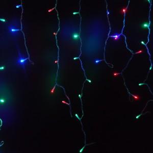 Z374RGB - SOPLE LED SZNUR 150LED 3M * 0,7M  IP44 220V 9,6W PVC 2,0mm ZEWNĘTRZNE Z WTYCZKĄ - MULTICOLOR - WIELOKOLOROWE