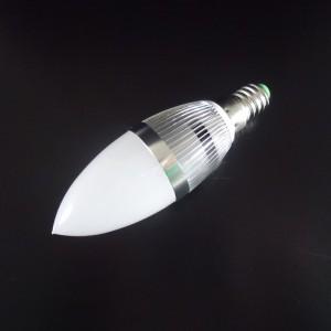 Z460LL - E14 HIGH POWER LED 3W (3x1W) 270LM=25W 230V ŚWIECA BIALA CIEPŁA 2900K 360 stopni
