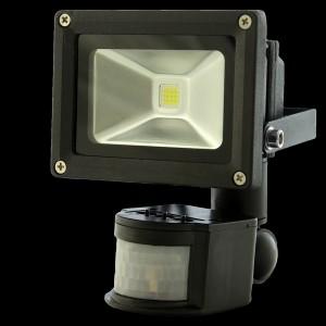 Naświetlacz ( reflektor ) MULTICHIP 10W HIGH POWER LED, odp.100W 230V 3500K z czujnikiem ruchu