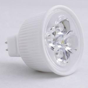 Z585 - MR16 HIGH POWER LED 4W (4x1W) 500LM=50W 12V BIALA CIEPŁA 3000K 60 stopni CERAMIC