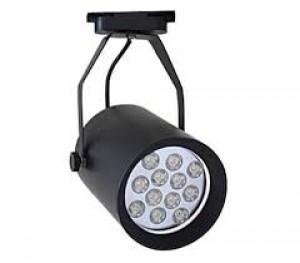 Z769WW_W - Oprawa szynowa LED TRACK HIGH POWER LED 12W (12x1W) 1200LM=100W 230V biała ciepła 3000K 120 stopni ( adapter 3 fazowy - 4 pin adapter 3 phase )  biała obudowa
