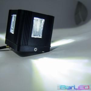Z745W - Oprawa CROSS ścienna dekoracyjna zewnętrzna 3W 3x1W 300LM 230V biała ciepła 3000K IP54; 80x80x76mm