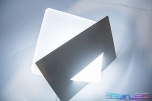 Z763 - Oprawa dekoracyjna ścienna / kinkiet 5W 230V IP20 biała zimna 6000K mrożona osłona; wymiar:18x18x9cm