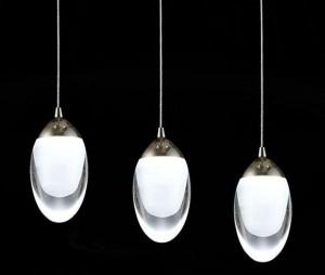 Lampa wisząca DROPLA 15W 1100LM 230V SMD 2835 mrożony akryl BIAŁY CIEPŁY 3000K