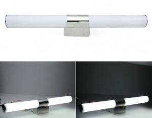 Z759 - LAMPA ŚCIENNA ŁAZIENKOWA DUAL TUBA 540mm 12W 9x2835 230V IP44 biała ciepła 3000K
