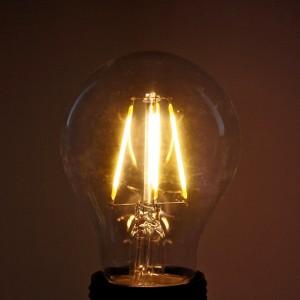 Z006FI - E27 A60 A19 FILAMENT COB LED 6W (6x1W) 650LM=60W 230V KULA BIALA CIEPŁA 2900K 270 stopni;