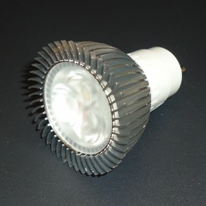 Z163 - GU10 HIGH POWER LED 3W (3x1W) 300LM 230V B.CIEPŁA 2600K 60st.