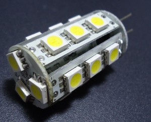 Z055 - G4 18 POWER LED SMD 5050 3,5W 240LM DC12V/AC 10-30V  BIAŁA CIEPŁA 3100K