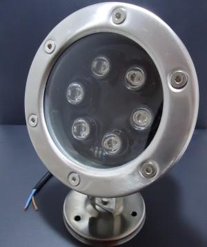 Z177N - Lampa LED zewnętrzna najazdowa IP67 5W 5x1W AC/DC 12V 500LM 90 stopni BIAŁA CIEPŁA 3000K  fi:120/H:95mm