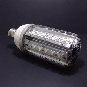 Z419- Żarówka/lampa uliczna/parkowa/magazynowa  E40/ E27 36W 36x1W High Power LED 4700LM 230V BIAŁA ZIMNA 10000K  130LM/W kąt 360 stopni IP20 (opcja: zasilanie 12V , 24V)