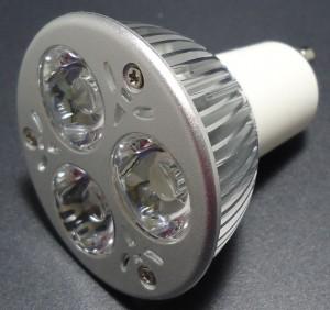 Z220 - GU10 HIGH POWER LED 3W (3x1W) 300LM=35W 230V BIALA CIEPŁA 3050-3250K 120st.