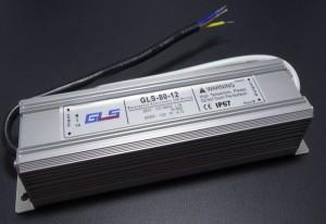 Z226 - Zasilacz impulsowy LED wodoodporny  IP67 12V DC 6.6A 80W