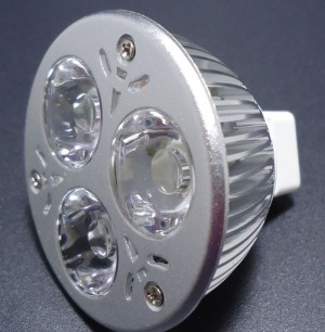 Z233 - MR16 HIGH POWER LED 3W (3x1W) 360LM=40W 12V BIALA ZIMNA 5000-6000K 120st.