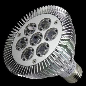Z590 - E27 PAR30 7x1W HIGH POWER LED 7W PODCZERWIEŃ / IR  850nm 120 stopni