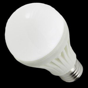 Z409 - E27 HIGH POWER LED 7W (7x1W) 600LM=60W 230V GLOBAL CERAMIC BIALA CIEPŁA 3100K