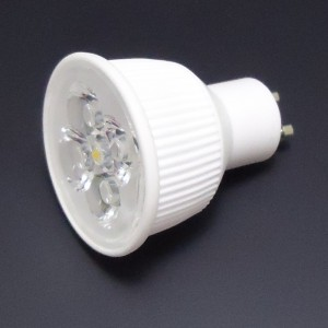 Z554 - GU10 HIGH POWER LED 4W (4x1W) 500LM=50W 230V BIALA NATURALNA 5000K 45 stopni CERAMIC DIMMABLE ŚCIEMNIANA