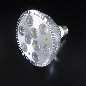Z673 -E27 PAR30 9x1W HIGH POWER LED 9W 1100LM=80W 230V BIAŁA CIEPŁA 3000K 15 stopni