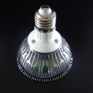 Z667 - Oprawa szynowa LED TRACK (socket + E27 bulb) HIGH POWER LED 9W (9x1W) 1100LM=80W 230V 3000K 120 stopni ( adapter 1 fazowy - 2 pin adapter 1 phase )