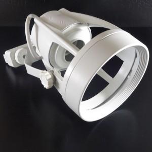 Z677 -  Uchwyt 4 Pin do szyny z gniazdem E27PAR30  w kolorze białym, uchylność w 2 osiach, z wyłącznikiem