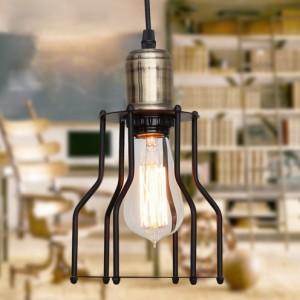Lampa sufitowa natynkowa VINTAGE, czarna z gniazdem E27 + Żarówka FIlament Edison!