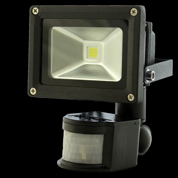 Naświetlacz ( reflektor ) MULTICHIP 10W  HIGH POWER LED, odp.100W 230V 7000K z czujnikiem ruchu