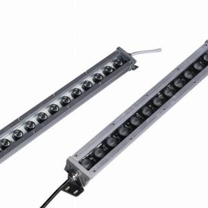 Z298 - Naświetlacz ( reflektor ) liniowy WALL WASHER 18W 18x1W HIGH POWER LED 230V RGB- automatyczna zmiana kolorów