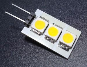 Z260 - G4 3 SMD 5050 0,6W 45LM 12V B.NATURALNA 4500K 120st.