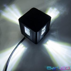 Z745P - Oprawa CROSS ścienna dekoracyjna zewnętrzna / 3W 3x1W 300LM 230V biała naturalna 4500K IP54; 80x80x76mm