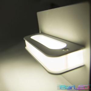 Z766 - Oprawa WARM dekoracyjna ścienna / kinkiet 4W 230V IP20 biała ciepła 3000K; wymiar:14x12x8cm