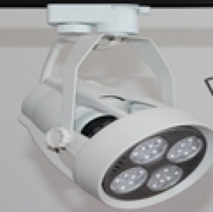 Z666 - Oprawa szynowa LED TRACK HIGH POWER LED CREE 35W (16x2W) 2700LM=200W 230V 3000K 15 stopni  ( adapter 3 fazowy - 4 pin adapter 3 phase )