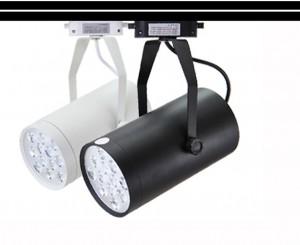 Z769PW_BL - Oprawa szynowa LED TRACK HIGH POWER LED 12W (12x1W) 1200LM=100W 230V biała NATURALNA 5000K 120 stopni ( adapter 3 fazowy - 4 pin adapter 3 phase )  biała obudowa