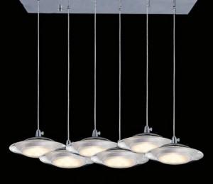 Lampa wisząca UFO 25W 1900LM 230V SMD 2835 mrożony akryl BIAŁY CIEPŁY 3000K