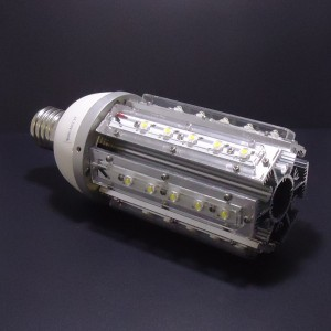 Z208- Żarówka/lampa uliczna/parkowa/magazynowa  E40/ E27 36W 36x1W High Power LED 4700LM 230V BIAŁA ZIMNA 7000K  130LM/W kąt 360 stopni IP20 (opcja: zasilanie 12V , 24V)