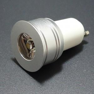 Z278 - GU11 MR11 HIGH POWER LED 3W (1x3W) 200LM 230V B.CIEPŁA 3100K 60st.