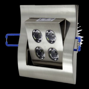 Z415 - Oprawa DOWNLIGHT 4W 4x1W 400LM 230V IP20 BIAŁA CIEPŁA 3000K 120 stopni regulowana 30 st.