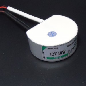 Z467 - Zasilacz impulsowy LED wodoodporny  IP67 12V DC 0.833A 10W okrągły 55x25mm