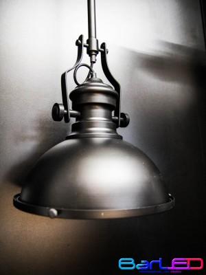 Lampa sufitowa natynkowa VINTAGE czarna z gniazdem E27 + Żarówka
