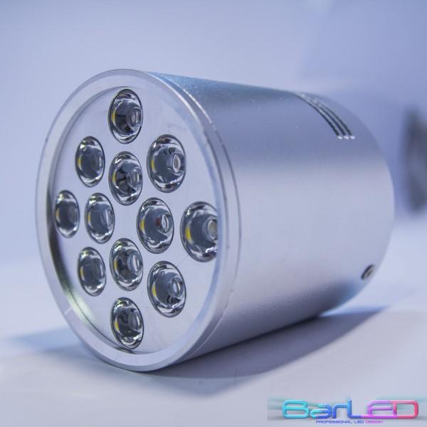 LAMPA NATYNKOWA SREBRNY ROUND II HIGH POWER LED 12W (12x1W) 1200LM=100W 230V BIAŁY CIEPŁY 3000K