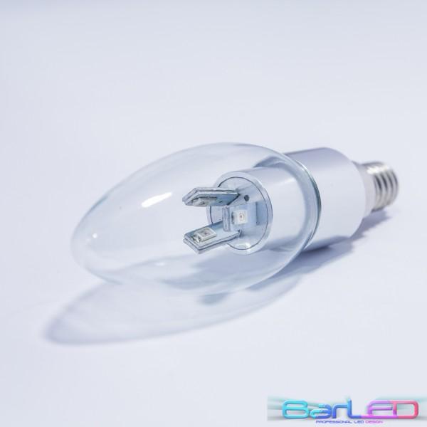 E14 CHANDELIER 6 POWER LED SMD 30LM/chip 3W 230V 180LM=20W CZERWONA