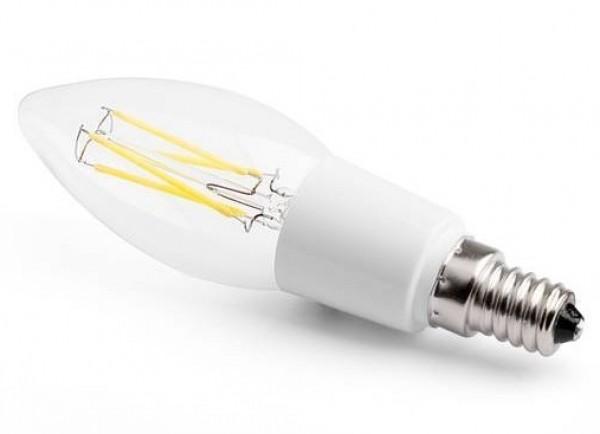 E14 HIGH FILAMENT E14 FILAMENT COB LED 4W 400LM=45W 230V ŚWIECA BIALA CIEPŁA 2900K 270 stopni;