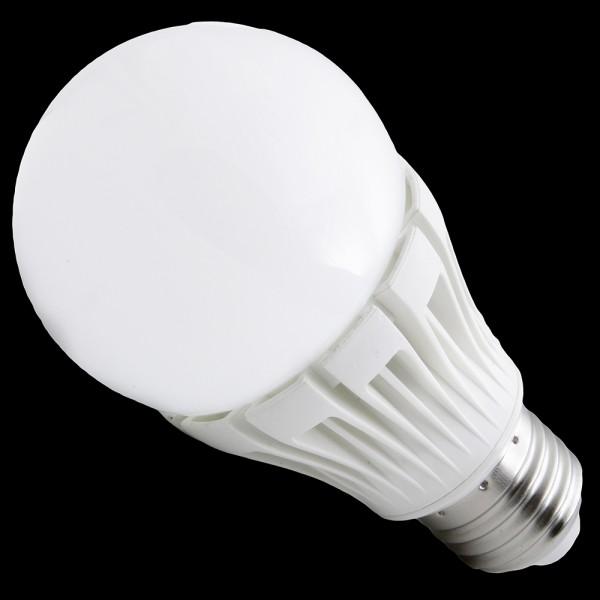 Żarówka E27 12 POWER LED SMD 50LM/chip 6W 230V 540LM=50W BIAŁA CIEPŁA 2900K IP44 z mleczną osłoną