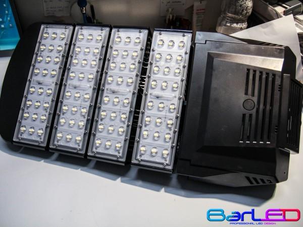 Lampa uliczna 230V 120W 96x1W 12000LM BIAŁA NATURALNA 4500K 150x75 stopni MEAN WELL; dioda 140LM/chip BRIDGELUX